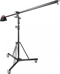 Walimex pro Wheeled Boom Stand with Counterweight 140-450cm