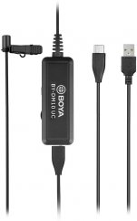 BOYA BY-DM10 UC Digital Lavalier Microphone with Monitoring & USB Type-C and USB Type A Cables