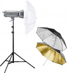 Walimex pro VC-300 Excellence Set Starter M (3 Umbrellas + Stand)