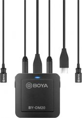 BOYA BY-DM20 Dual-Channel Recording Kit for iOS, Android (Type-C) & Laptop, Includes Mixe (2x Lavalier Mic and Cables)
