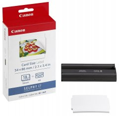 Canon KC-18IF Ink/Paper Set Credit Card Size - 18 Stickers