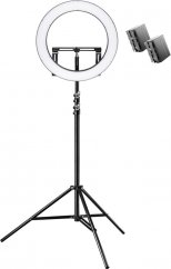 Walimex pro LED Ring Light 500 Bi Color RLL-500BV with Light Stand + 2x Battery