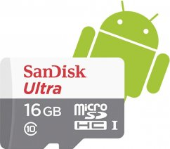 SanDisk Secure Digital Micro SDHC 16GB Ultra 80 MB/s Class 10 UHS-I + Adapter