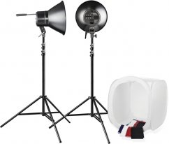 Walimex Daylight 600/600 Studio Set with Stands + Light Tent