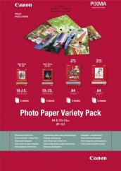 """Canon VP-101 Photo Paper Variety Pack 4x6"""" and A4 - 20 Sheets"""