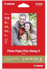 """Canon PP-201 Glossy II Photo Paper Plus 5x7"""" - 20 Sheets"""