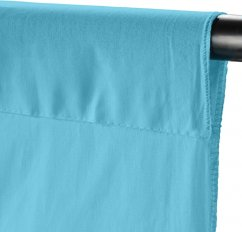 Walimex Fabric Background (100% cotton) 2.85x6m (Turquoise Blue)