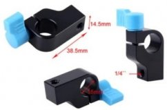 """forDSLR Aluminum Alloy 15mm Rod Clamp With 1/4"""" Thread"""