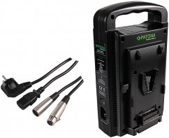 Patona Dual V-Mount Charger including 4-Pin XLR cable