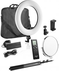 Walimex pro LED Ringleuchte Medow 960 Pro Bi Color with Light Stand