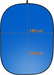 Walimex 2in1 Foldable Background 180x210cm Gray/Blue
