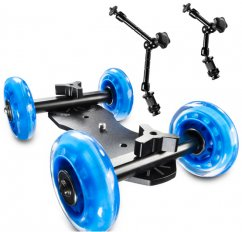 forDSLR Mini Table Dolly, Payload 15kg