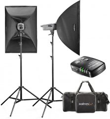Walimex pro VE Set Classic 300/300 Ws (2x Softbox + Stand)