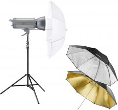 Walimex pro VC-500 Excellence Set Starter M (3 Umbrellas + Stand)