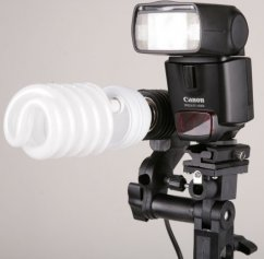 Umbrella Holder for system flash and bulb