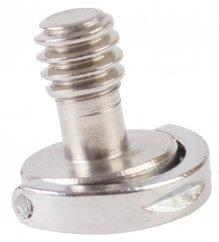 """forDSLR 1/4"""" Stainless Steel Screw with Head D-Ring, Length 14mm"""