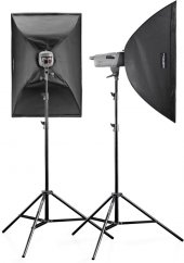 Walimex pro VE Set Classic 150/150 Ws (2x Softbox + Stand)
