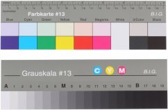 Small Grey Scale with Colour chart #13 (analogue to Kodak Q13)