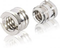 Walimex pro Thread Adapter 1/4 to 3/8 inch with Brim, 2 pieces
