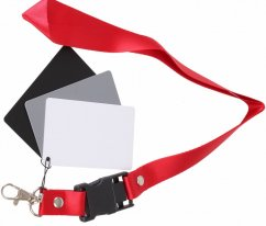 forDSLR Pocket 3in1 Balance Cards 18% Gray, White, Black 55x85mm with Strap