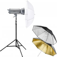 Walimex pro VC-400 Excellence Set Starter M (3 Umbrellas + Stand)