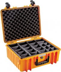 B&W Outdoor Case Type 6000 with Configurable Inserts Orange