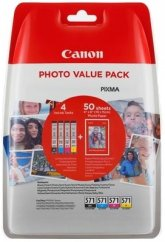 Canon CLI-571XL High Yield BK/C/M/Y Ink Cartridge + Photo Paper Value Pack