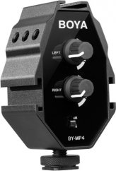 BOYA BY-MP4 Audio Adapter with Dual Trim Control Knobs